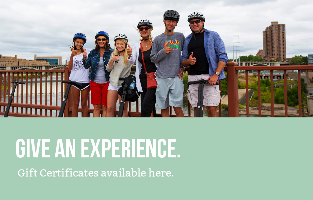 Give An Experience. Gift Certificates available here.